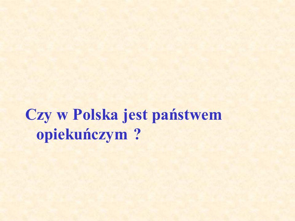 Czy w Polska jest państwem opiekuńczym