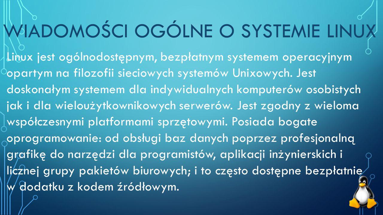 Wiadomości ogólne o systemie Linux