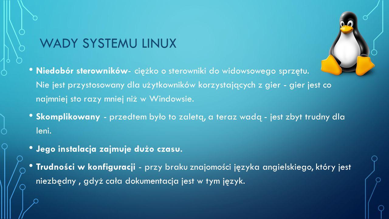 Wady systemu linux