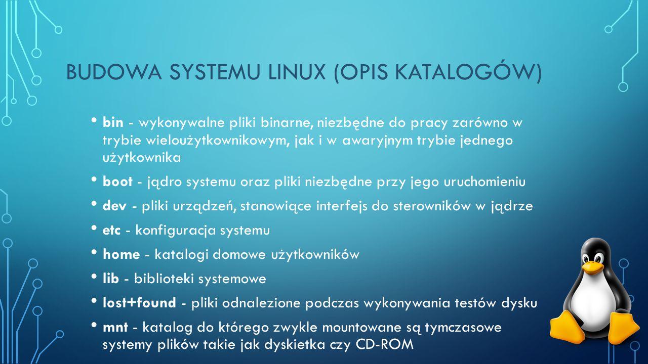 Budowa systemu Linux (opis katalogów)
