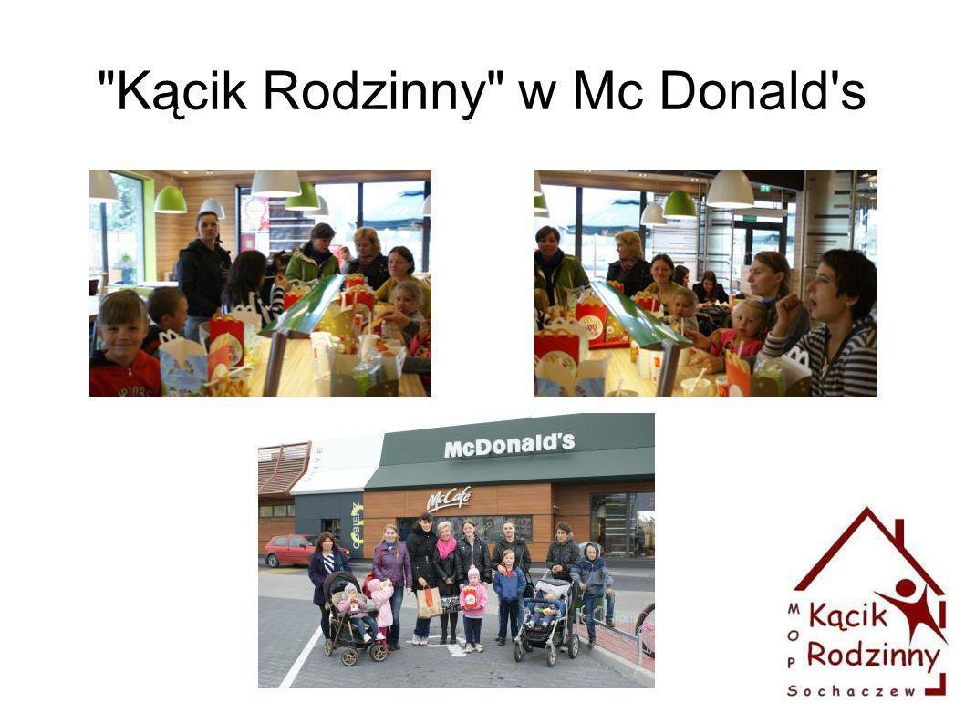 Kącik Rodzinny w Mc Donald s