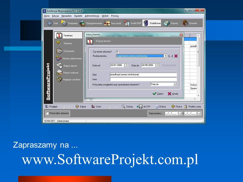 Zapraszamy na ... www.SoftwareProjekt.com.pl 7