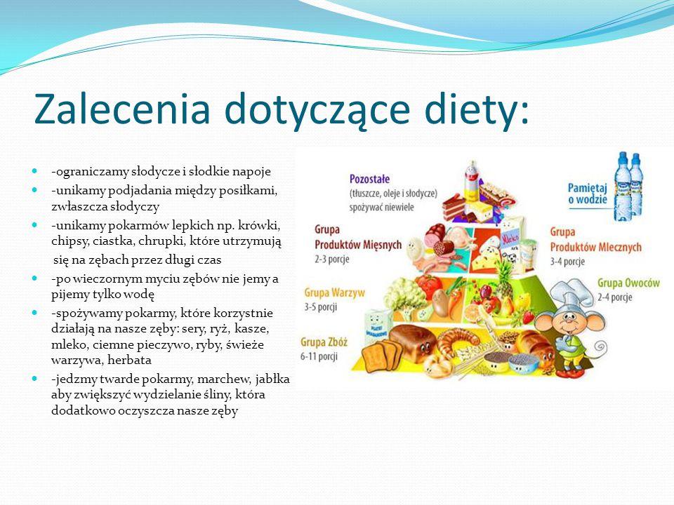 Zalecenia dotyczące diety: