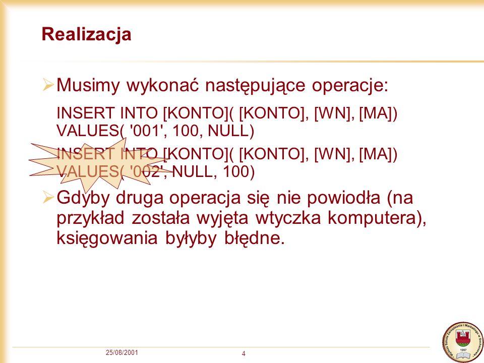 Musimy wykonać następujące operacje: