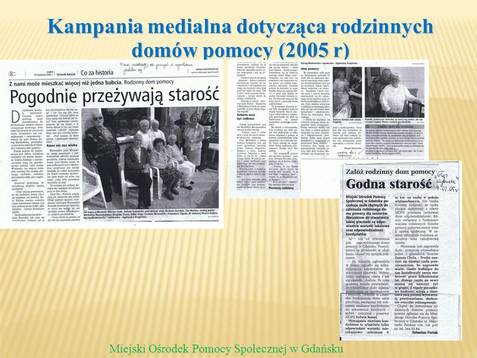 Kampania medialna dotycząca rodzinnych domów pomocy (2005 r)