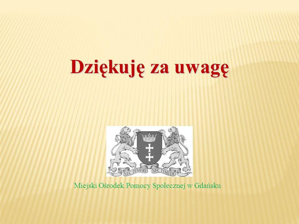 Dziękuję za uwagę Miejski Ośrodek Pomocy Społecznej w Gdańsku