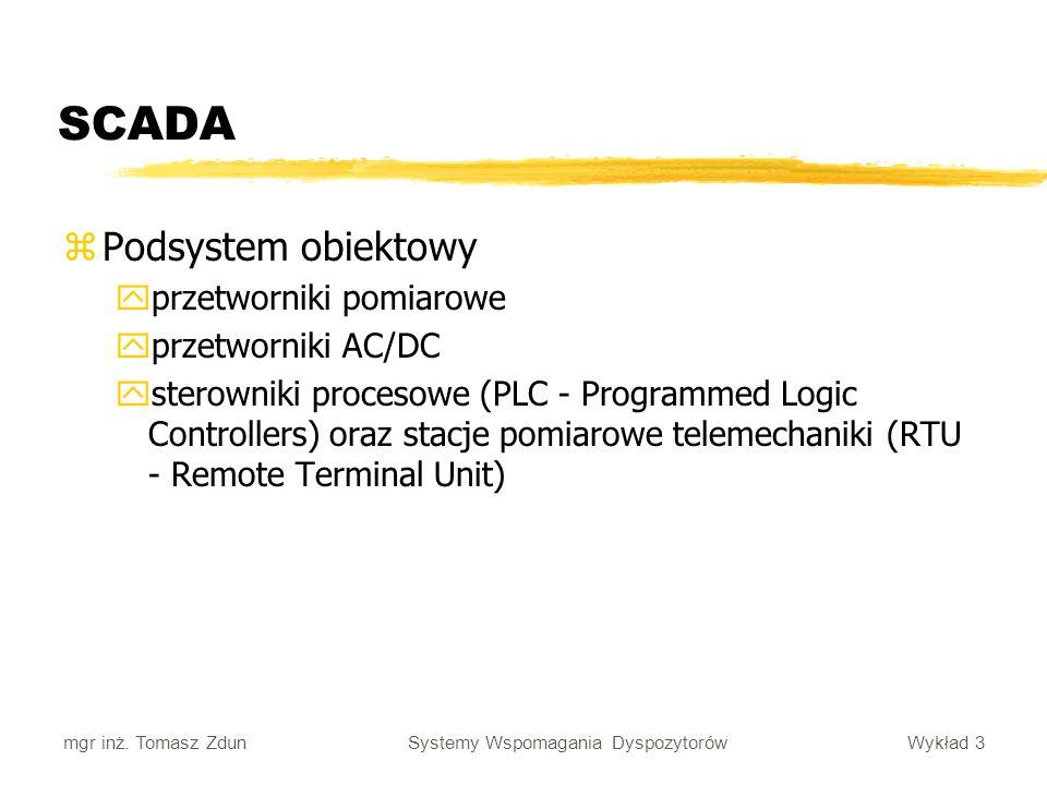 SCADA Podsystem obiektowy przetworniki pomiarowe przetworniki AC/DC