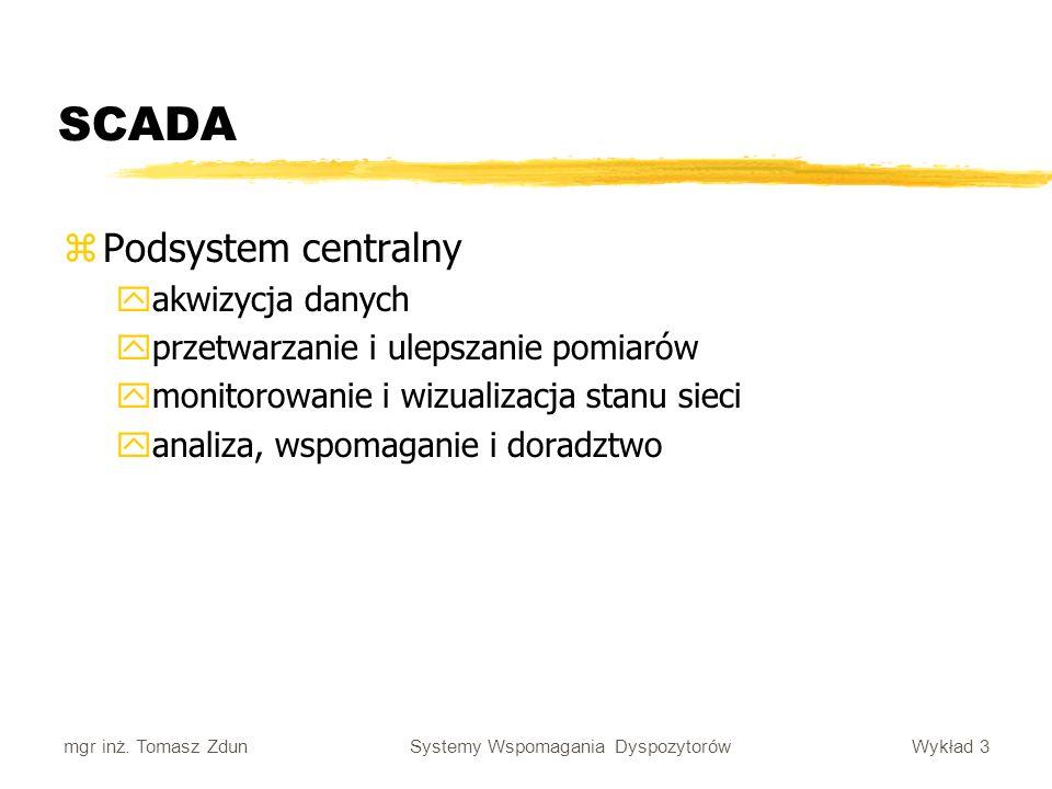 SCADA Podsystem centralny akwizycja danych