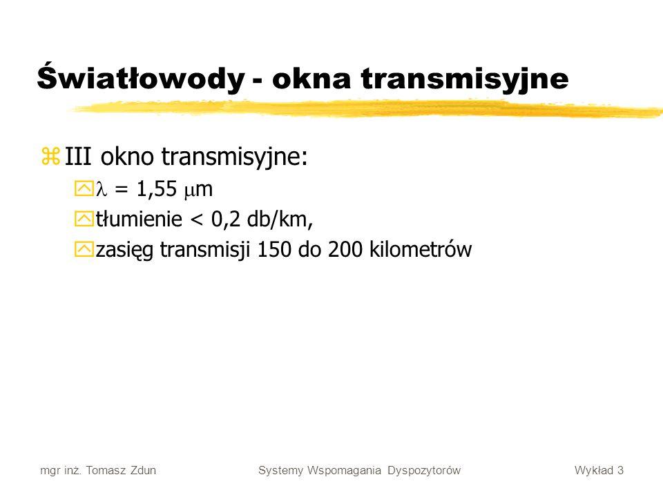 Światłowody - okna transmisyjne