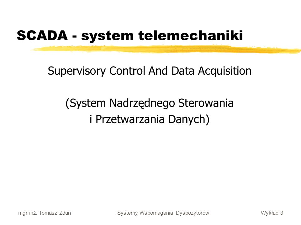SCADA - system telemechaniki