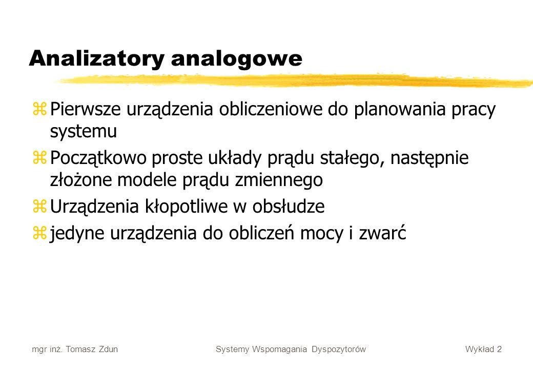 Analizatory analogowe