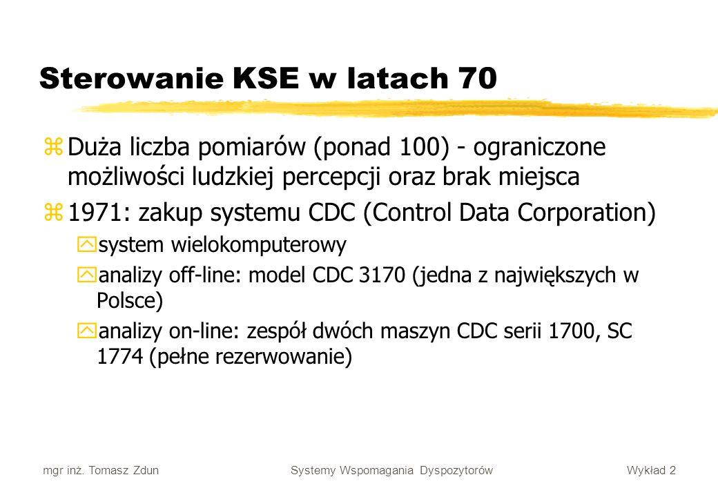 Sterowanie KSE w latach 70
