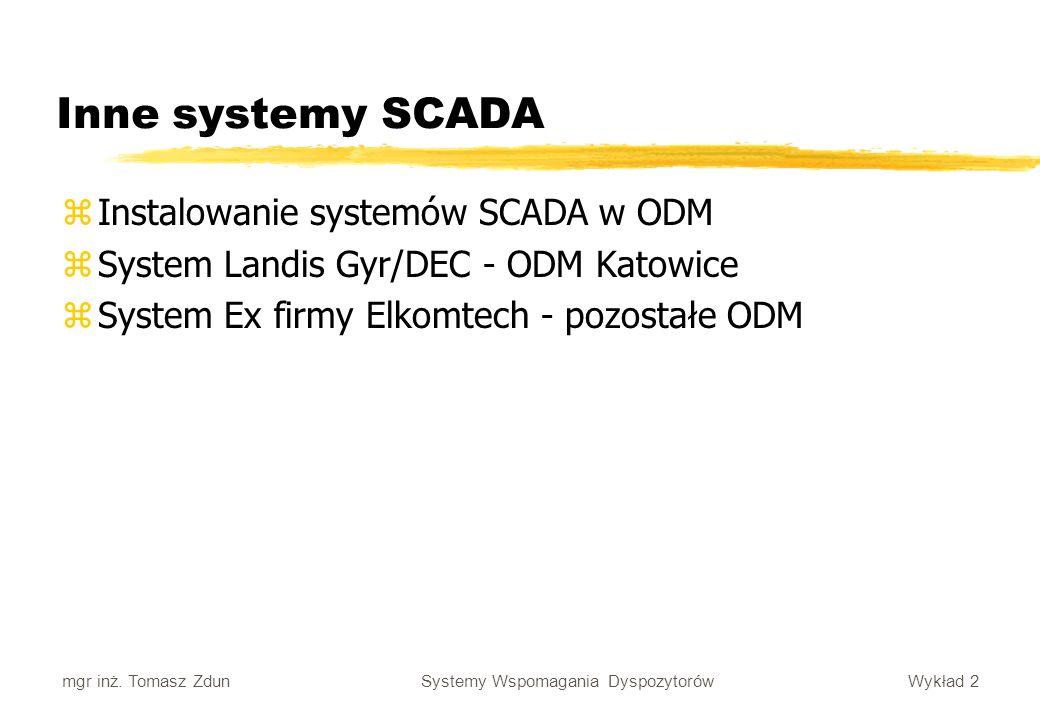 Inne systemy SCADA Instalowanie systemów SCADA w ODM