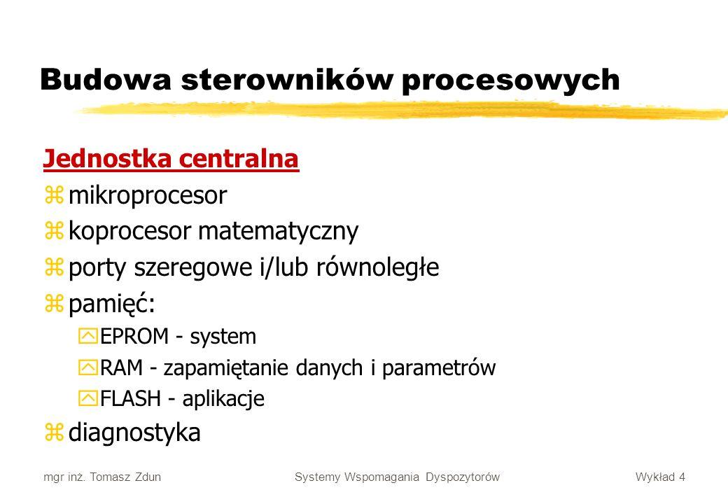 Budowa sterowników procesowych