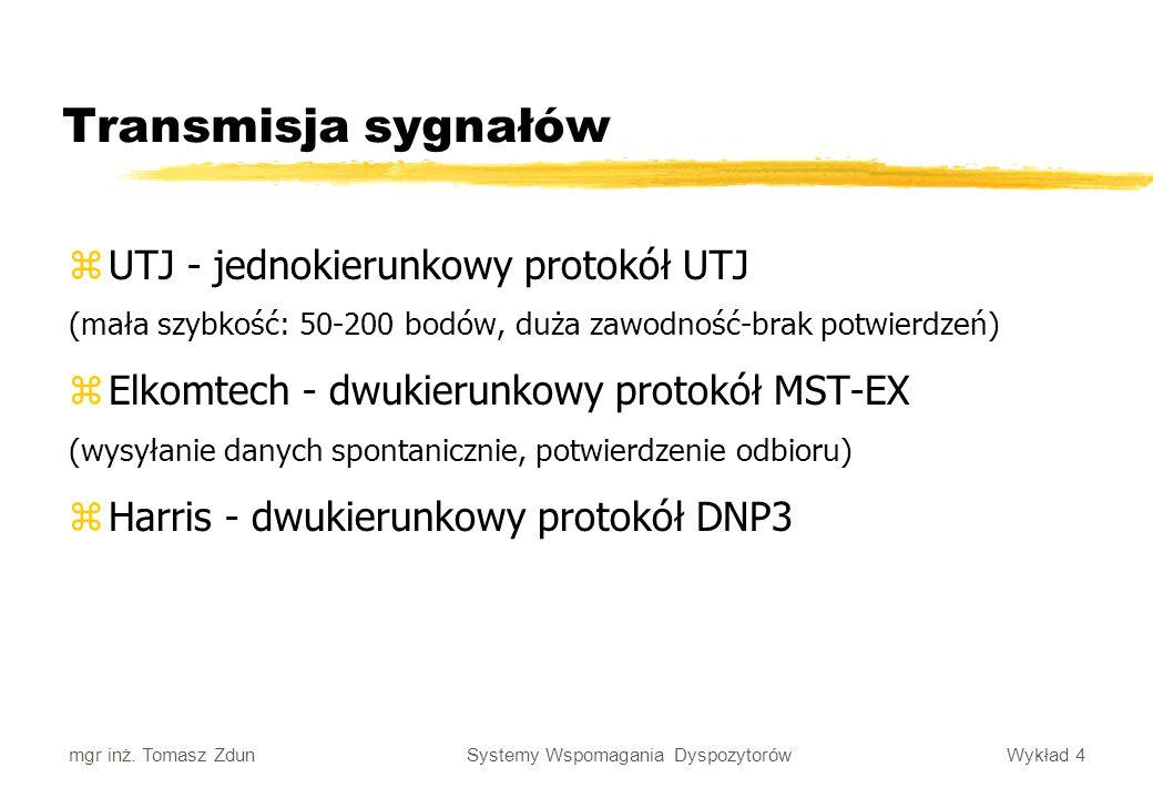Transmisja sygnałów UTJ - jednokierunkowy protokół UTJ