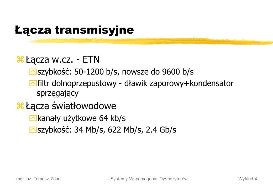 Łącza transmisyjne Łącza w.cz. - ETN Łącza światłowodowe