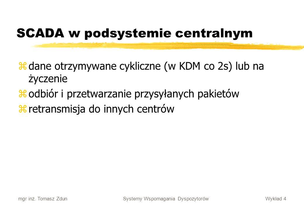 SCADA w podsystemie centralnym