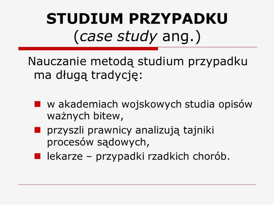 STUDIUM PRZYPADKU (case study ang.)