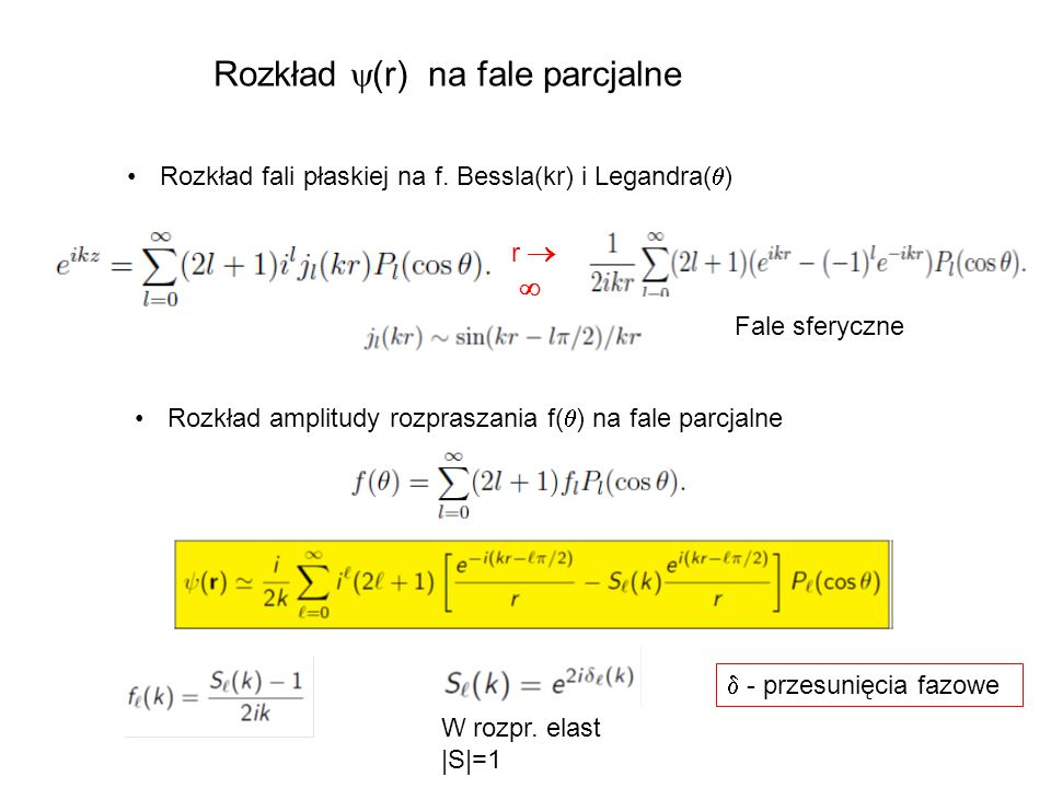 Rozkład (r) na fale parcjalne