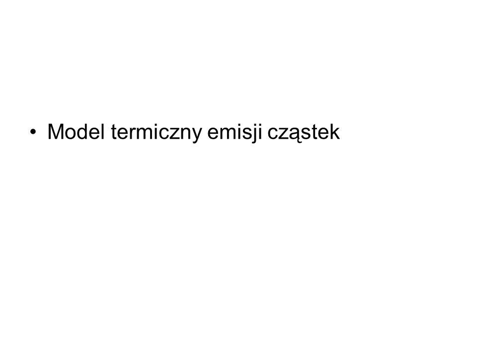 Model termiczny emisji cząstek