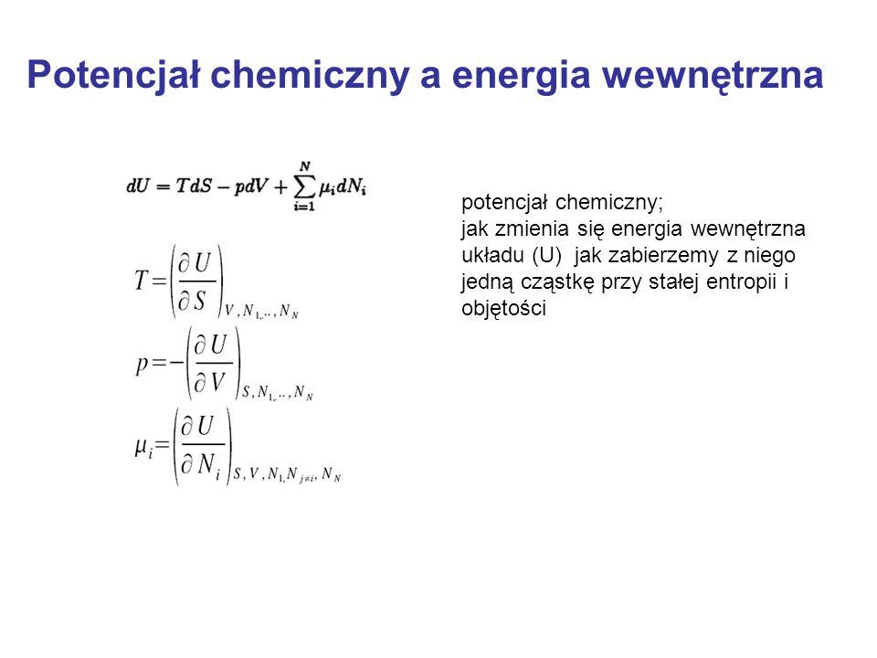 Potencjał chemiczny a energia wewnętrzna