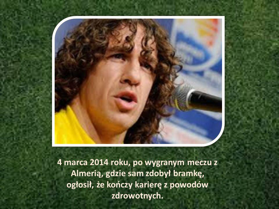 4 marca 2014 roku, po wygranym meczu z Almerią, gdzie sam zdobył bramkę, ogłosił, że kończy karierę z powodów zdrowotnych.