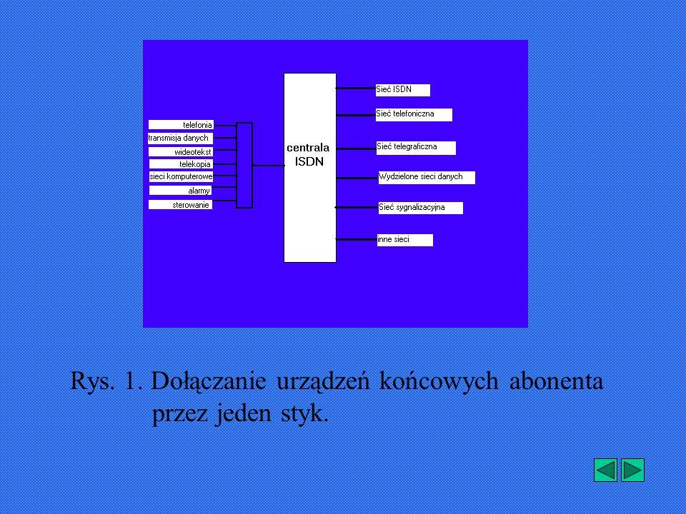 Rys. 1. Dołączanie urządzeń końcowych abonenta