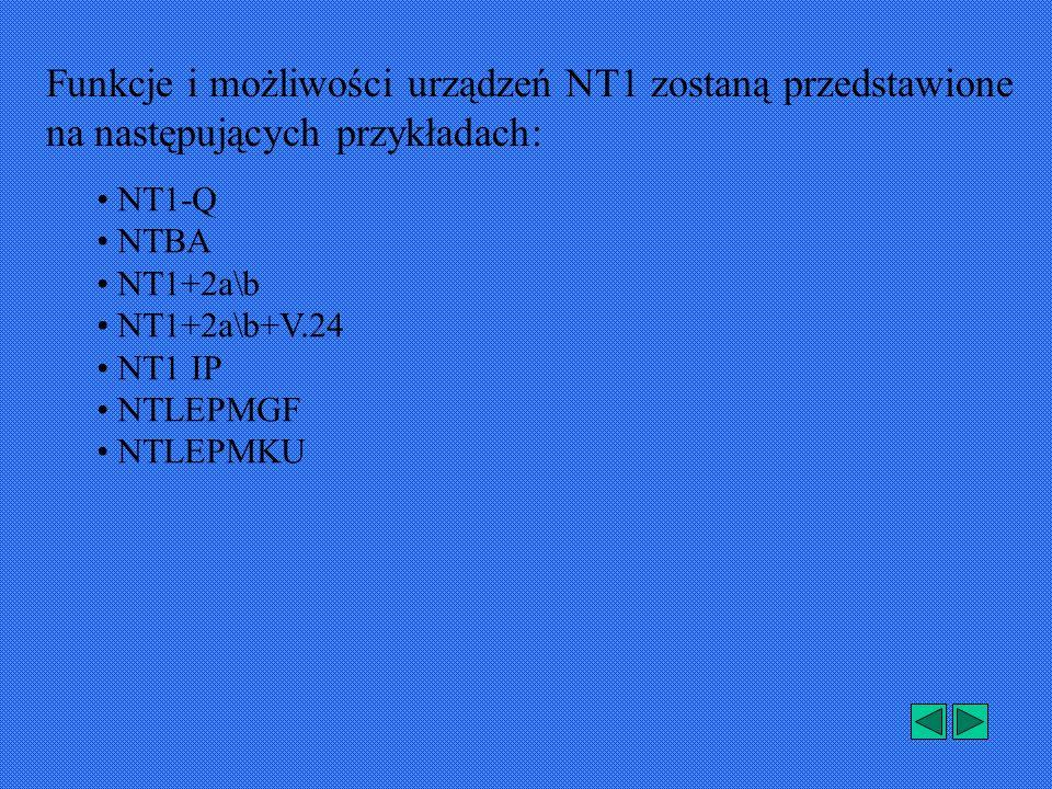Funkcje i możliwości urządzeń NT1 zostaną przedstawione