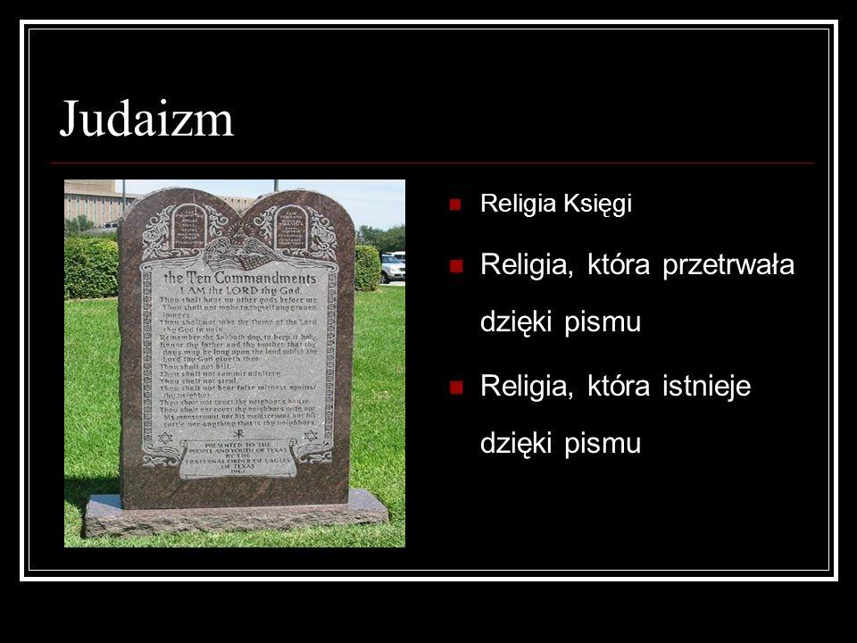 Judaizm Religia, która przetrwała dzięki pismu