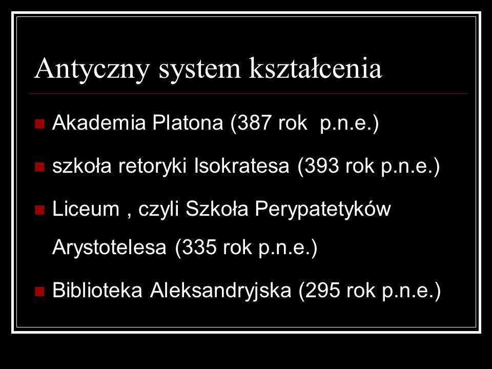 Antyczny system kształcenia