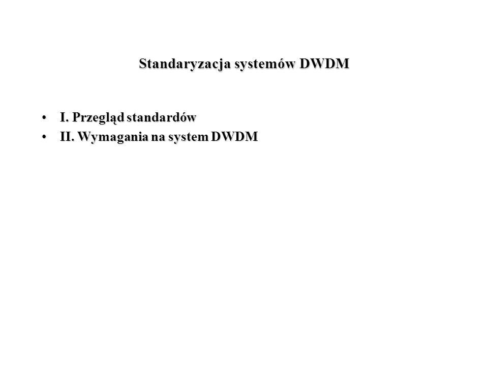Standaryzacja systemów DWDM