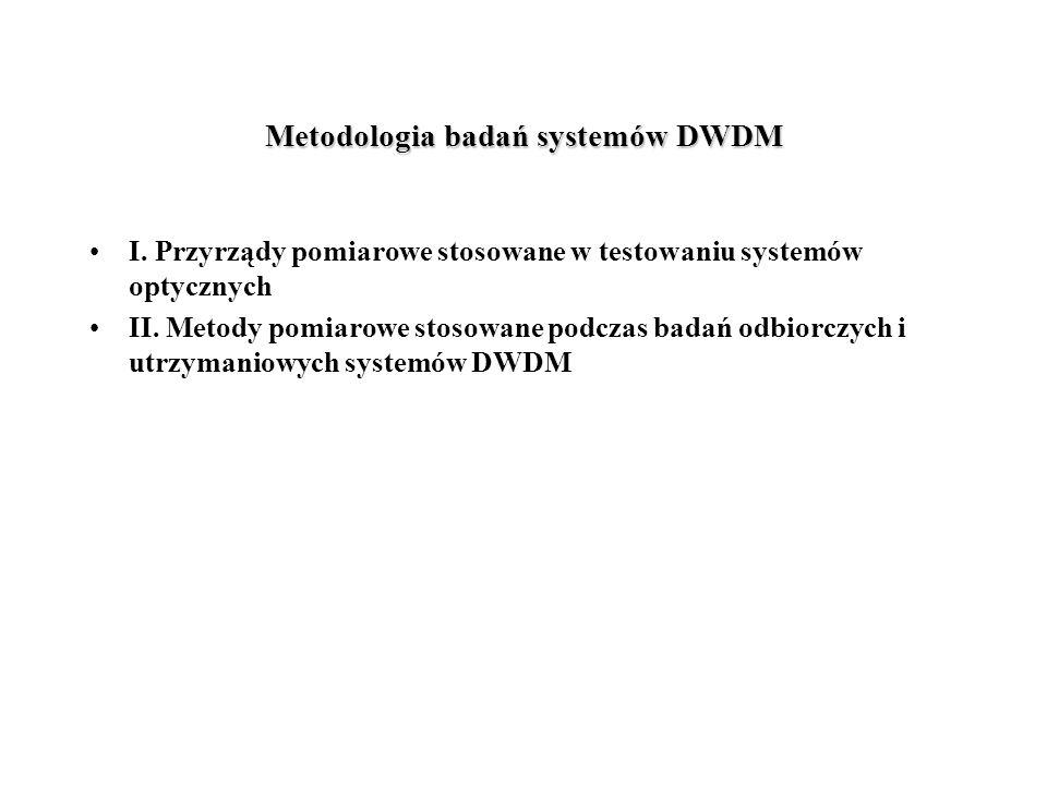 Metodologia badań systemów DWDM