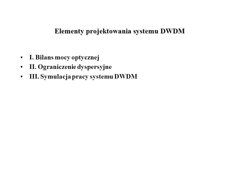 Elementy projektowania systemu DWDM