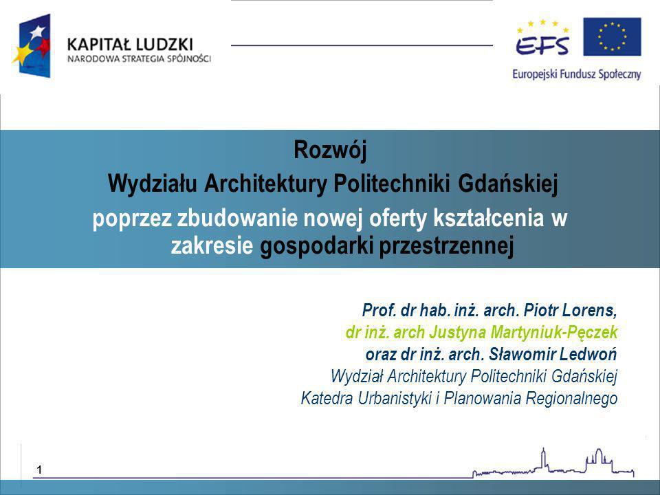 Wydziału Architektury Politechniki Gdańskiej