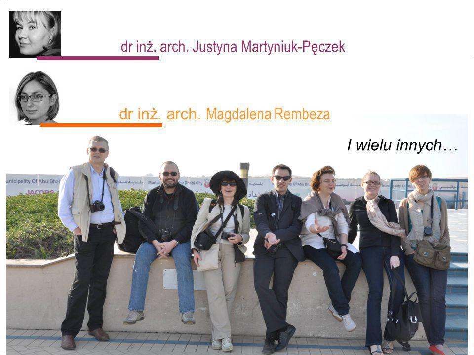 dr inż. arch. Justyna Martyniuk-Pęczek
