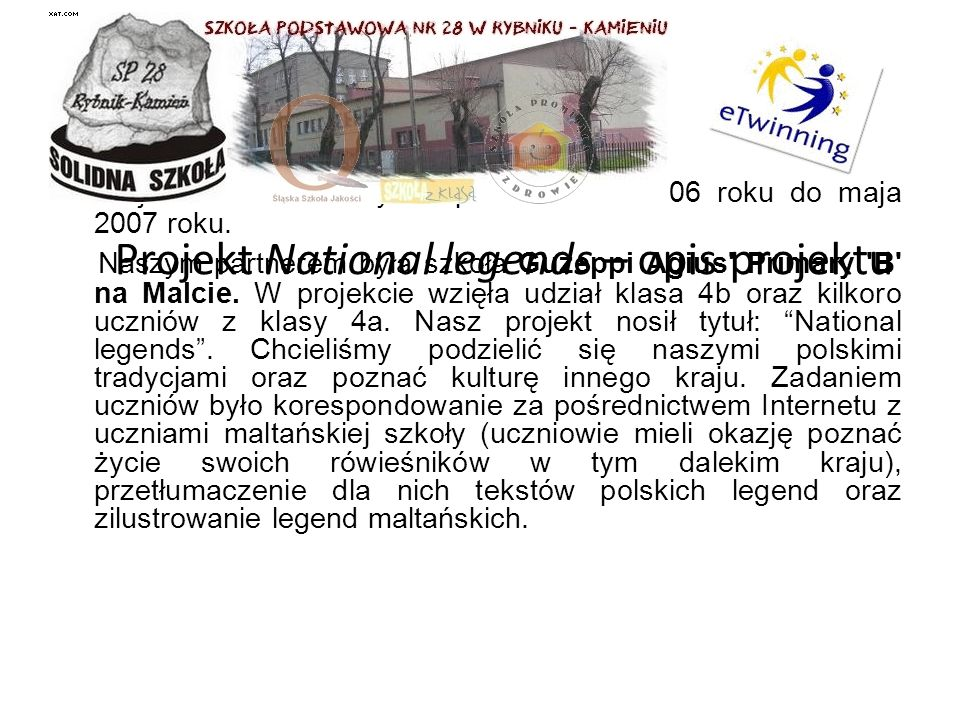 Projekt National legends – opis projektu