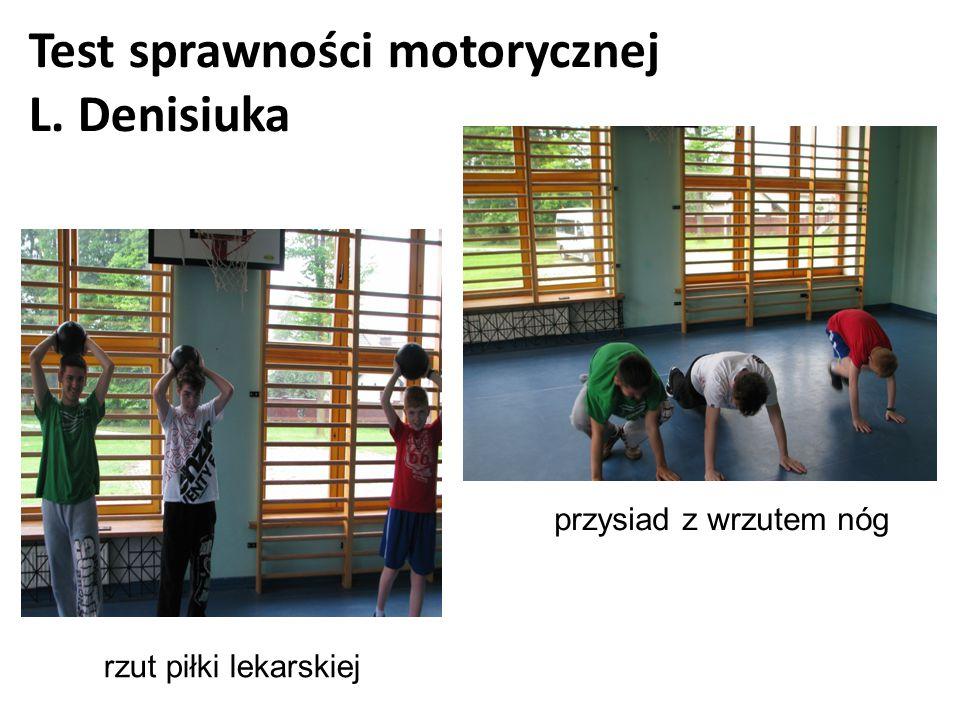 Test sprawności motorycznej L. Denisiuka