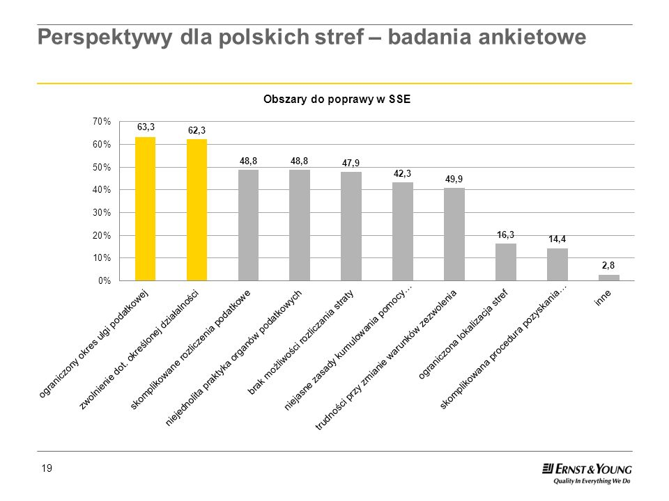 Perspektywy dla polskich stref – badania ankietowe