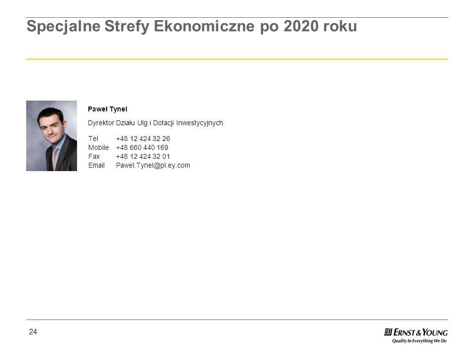 Specjalne Strefy Ekonomiczne po 2020 roku