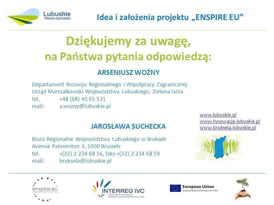 """Idea i założenia projektu """"ENSPIRE EU na Państwa pytania odpowiedzą:"""