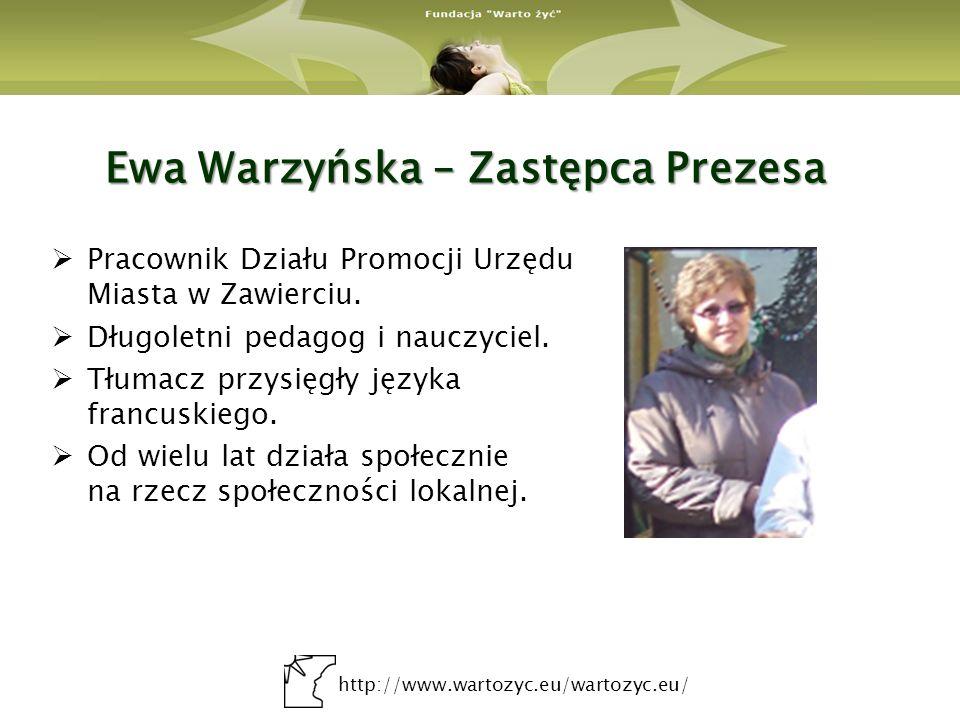 Ewa Warzyńska – Zastępca Prezesa