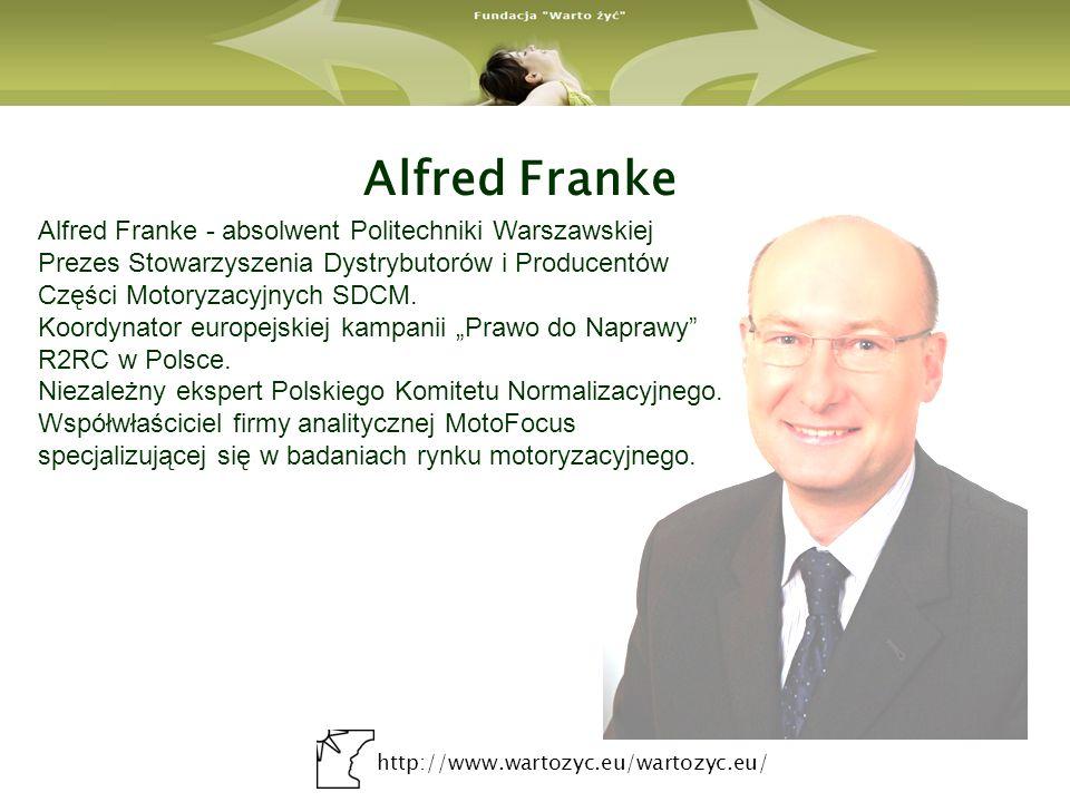 Alfred Franke Alfred Franke - absolwent Politechniki Warszawskiej