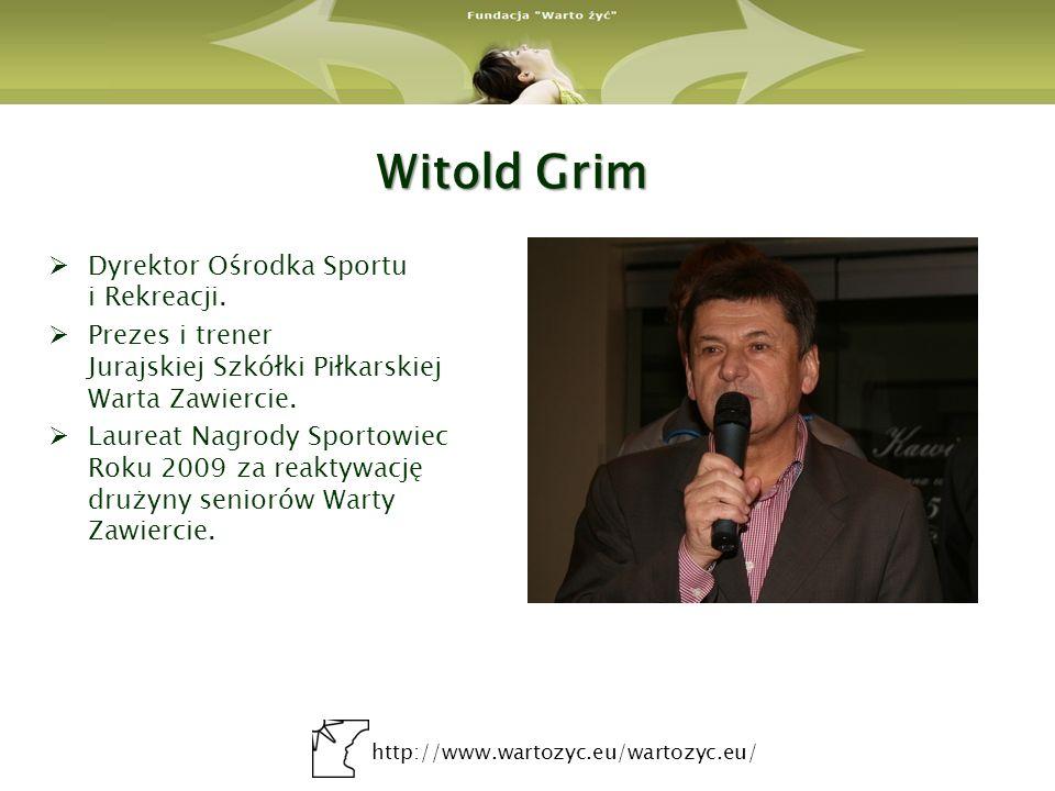 Witold Grim Dyrektor Ośrodka Sportu i Rekreacji.
