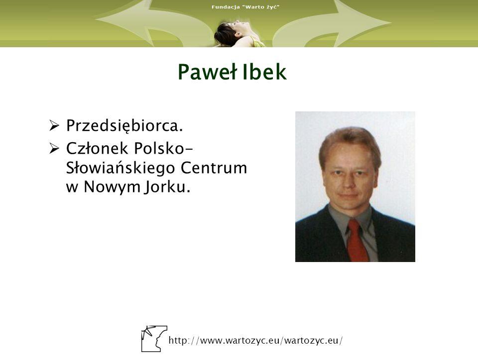 Paweł Ibek Przedsiębiorca.
