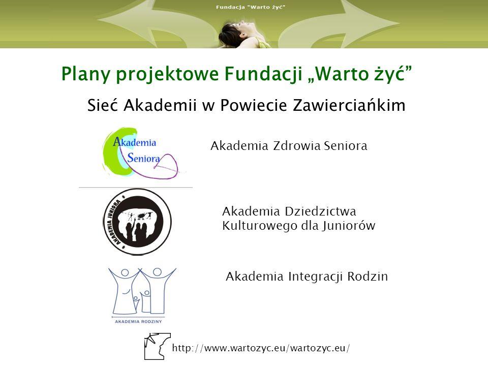 """Plany projektowe Fundacji """"Warto żyć"""