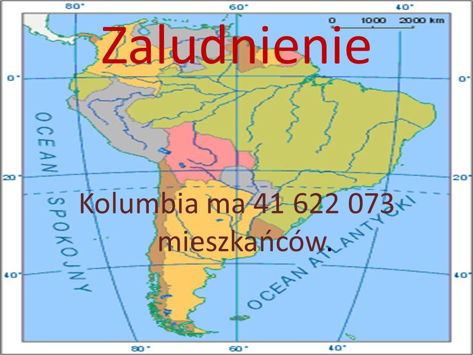Kolumbia ma 41 622 073 mieszkańców.