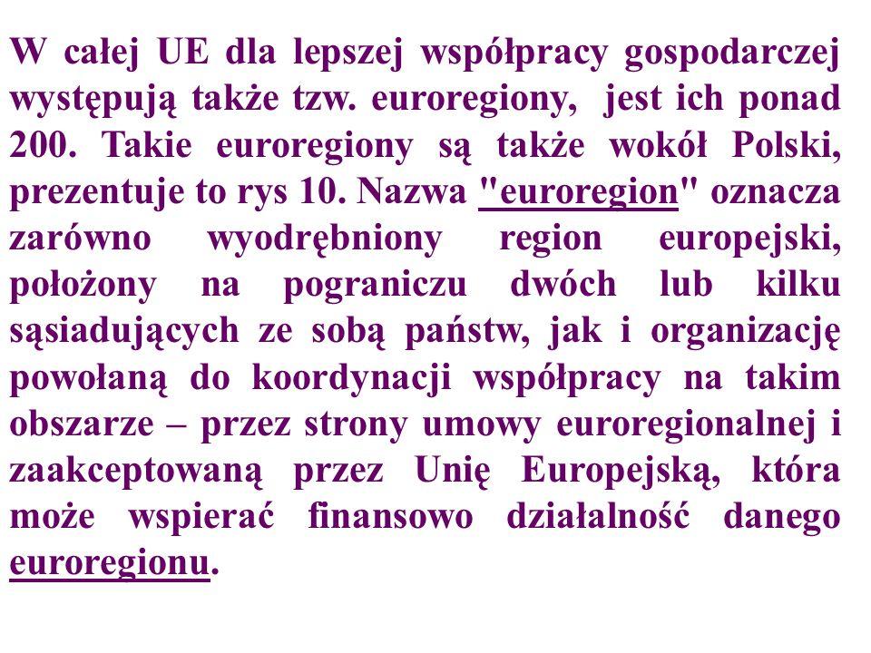 W całej UE dla lepszej współpracy gospodarczej występują także tzw