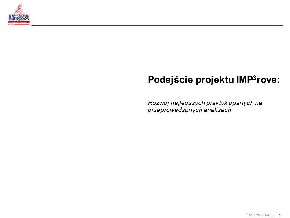 Podejście projektu IMP3rove: