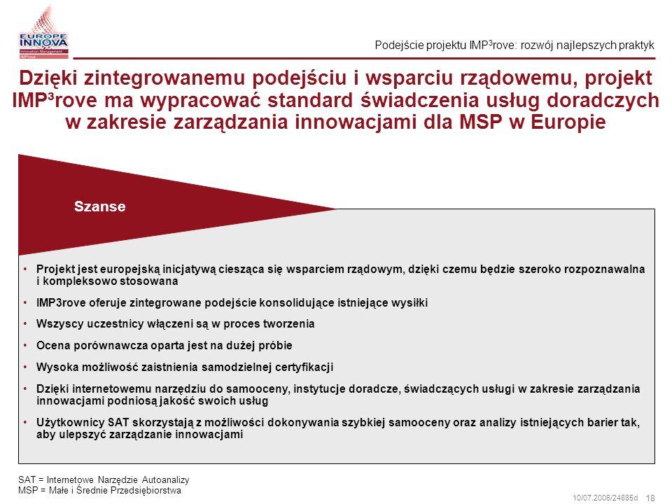 Podejście projektu IMP3rove: rozwój najlepszych praktyk
