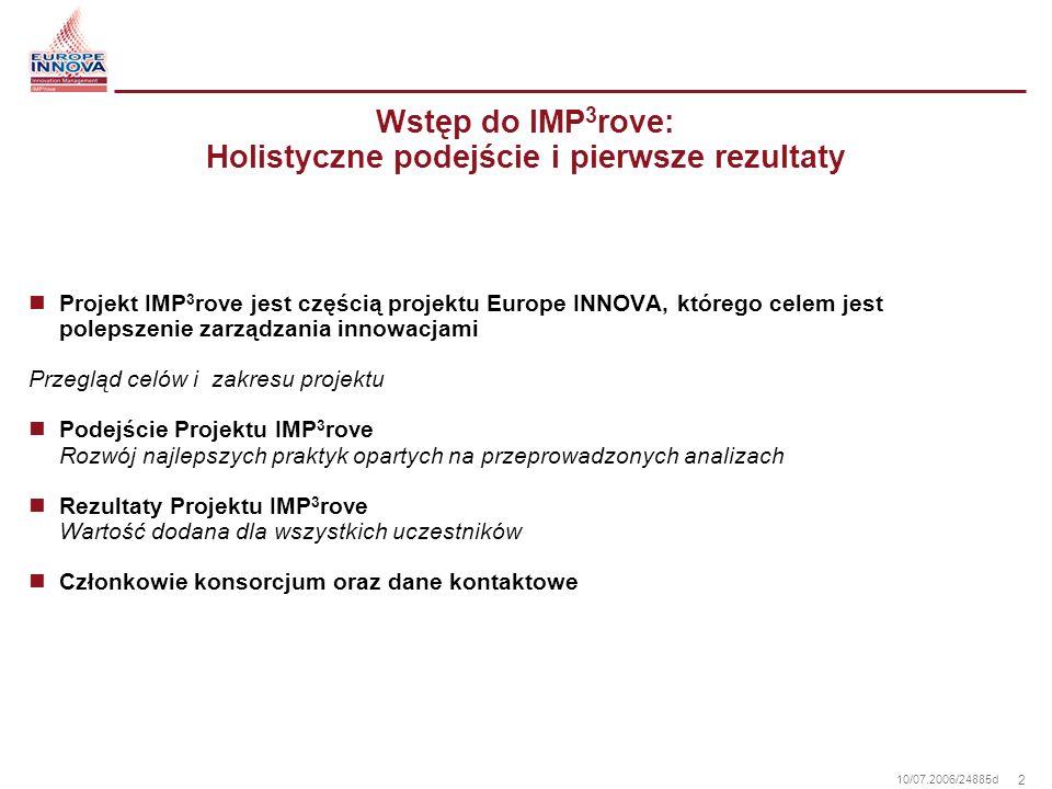 Wstęp do IMP3rove: Holistyczne podejście i pierwsze rezultaty
